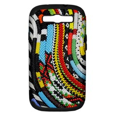 Multi Colored Beaded Background Samsung Galaxy S Iii Hardshell Case (pc+silicone)