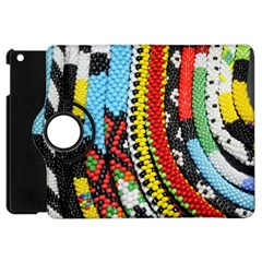 Multi Colored Beaded Background Apple Ipad Mini Flip 360 Case by artattack4all