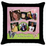 Throw Pillow Case_For the Cure2 - Throw Pillow Case (Black)