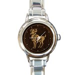 Aries Round Italian Charm Watch