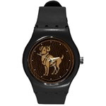 Aries Round Plastic Sport Watch Medium