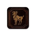 Aries Rubber Square Coaster (4 pack)