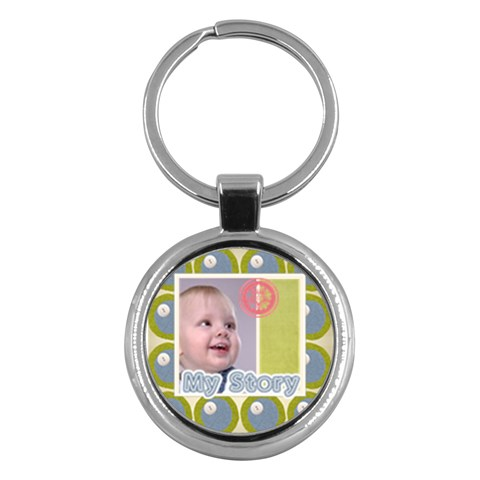 Kids , Flower , Happy, Fun By Debe Lee   Key Chain (round)   58o2qqvbhwq3   Www Artscow Com Front