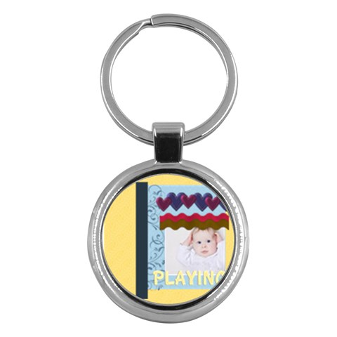 Kids By Betty   Key Chain (round)   V1fa1tfadcg3   Www Artscow Com Front