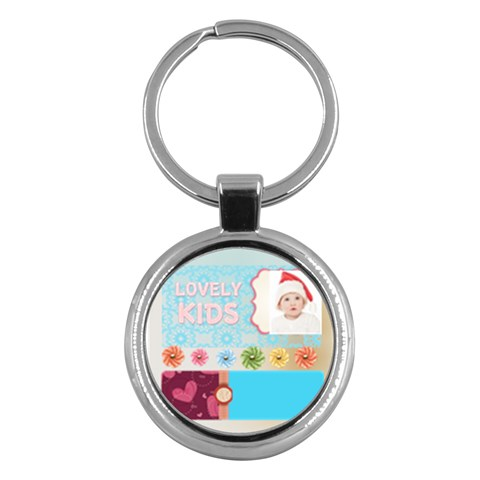 Kids By Betty   Key Chain (round)   Q2mib9771wkm   Www Artscow Com Front