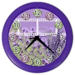 Lavender and purple Clock - Color Wall Clock