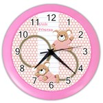 Little Princess Pink clock - Color Wall Clock