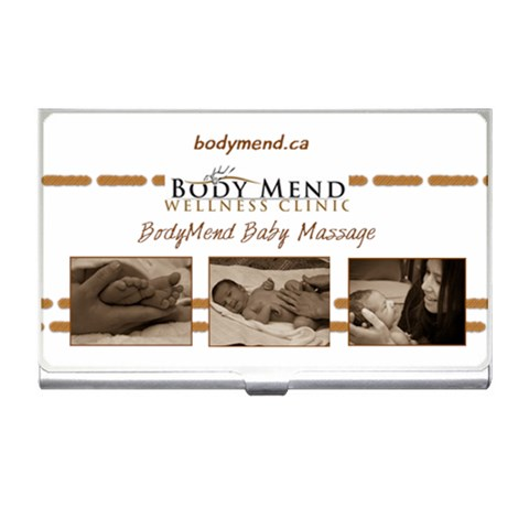 Bodymend Babymassage Business Card Holder  By Leah Hensen   Business Card Holder   Gij96vmilvt0   Www Artscow Com Front
