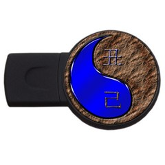 Yin Earth Ox USB Flash Drive Round (1 GB) by whatsyoursign