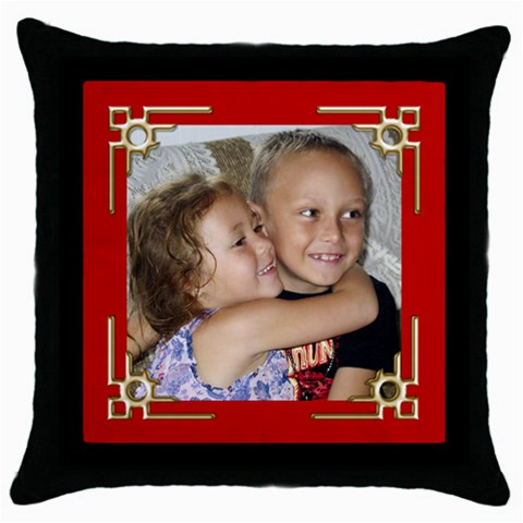 Special Times Throw Pillow By Deborah   Throw Pillow Case (black)   Qfxrahxo78vj   Www Artscow Com Front