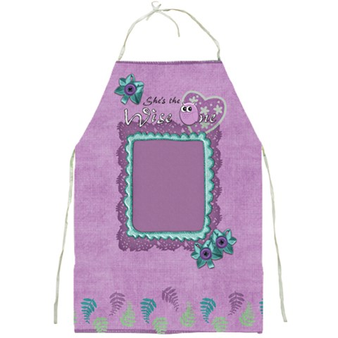 Apron Wise One By Shelly   Full Print Apron   E4g5yovfljqx   Www Artscow Com Front