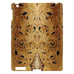 Golden Brown Tooled Faux Leather Look Apple Ipad 3/4 Hardshell Case by artattack4all