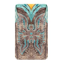 Turquoise And Gray Eagle Tooled Leather Look Memory Card Reader (rectangular) by artattack4all