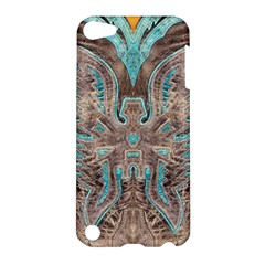 Turquoise And Gray Eagle Tooled Leather Look Apple Ipod Touch 5 Hardshell Case by artattack4all