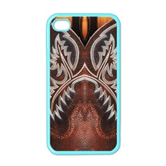 Brown And Black Tooled Leather Design Look Apple Iphone 4 Case (color) by artattack4all