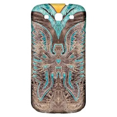 Turquoise And Gray Western Leather Look Samsung Galaxy S3 S Iii Classic Hardshell Back Case