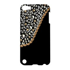 Black Leather Look W/silver Studs Apple Ipod Touch 5 Hardshell Case by artattack4all