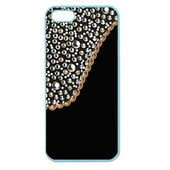 Black Leather Look W/silver Studs Apple Seamless Iphone 5 Case (color) by artattack4all