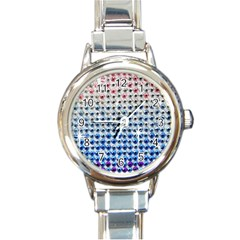 Rainbow Colored Bling Classic Elegant Ladies Watch (round) by artattack4all