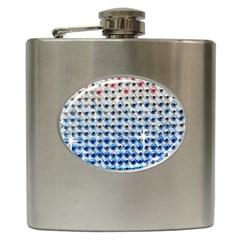Rainbow Colored Bling Hip Flask by artattack4all