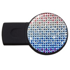 Rainbow Colored Bling 4gb Usb Flash Drive (round) by artattack4all