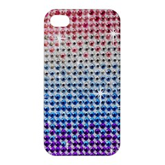 Rainbow Colored Bling Apple Iphone 4/4s Premium Hardshell Case by artattack4all