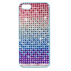 Rainbow Colored Bling Apple Seamless Iphone 5 Case (color) by artattack4all