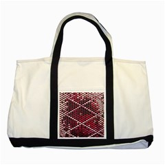 Red Glitter Bling Two Toned Tote Bag by artattack4all