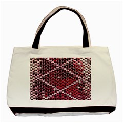 Red Glitter Bling Twin Sided Black Tote Bag by artattack4all