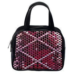 Red Glitter Bling Single Sided Satchel Handbag by artattack4all