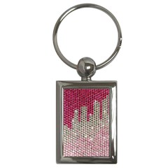 Mauve Gradient Rhinestones  Key Chain (rectangle) by artattack4all