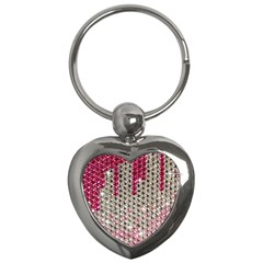 Mauve Gradient Rhinestones  Key Chain (heart) by artattack4all