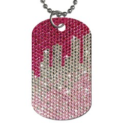 Mauve Gradient Rhinestones  Twin Sided Dog Tag by artattack4all