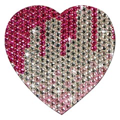 Mauve Gradient Rhinestones  Jigsaw Puzzle (heart) by artattack4all