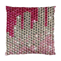 Mauve Gradient Rhinestones  Twin Sided Cushion Case by artattack4all
