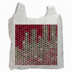 Mauve Gradient Rhinestones  Single Sided Reusable Shopping Bag by artattack4all