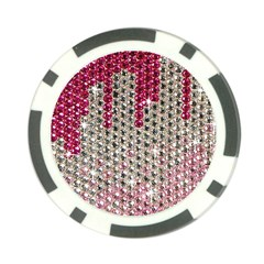 Mauve Gradient Rhinestones  10 Pack Poker Chip by artattack4all