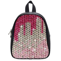 Mauve Gradient Rhinestones  Small School Backpack by artattack4all