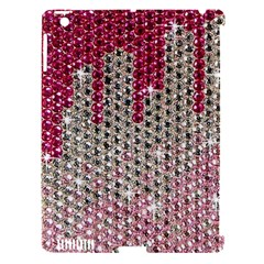 Mauve Gradient Rhinestones  Apple Ipad 3/4 Hardshell Case (compatible With Smart Cover) by artattack4all