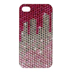 Mauve Gradient Rhinestones  Apple Iphone 4/4s Premium Hardshell Case by artattack4all