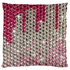 Mauve Gradient Rhinestones  Large Cushion Case (one Side) by artattack4all