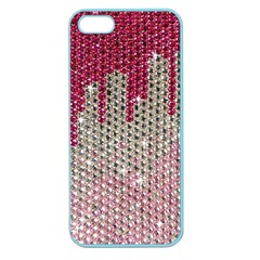 Mauve Gradient Rhinestones  Apple Seamless Iphone 5 Case (color) by artattack4all