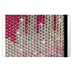 Mauve Gradient Rhinestones  Apple Ipad 2 Flip Case by artattack4all
