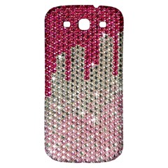 Mauve Gradient Rhinestones  Samsung Galaxy S3 S Iii Classic Hardshell Back Case by artattack4all