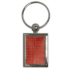 Studded Faux Leather Red Key Chain (rectangle) by artattack4all