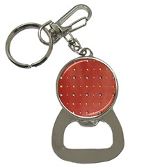 Studded Faux Leather Red Key Chain With Bottle Opener by artattack4all