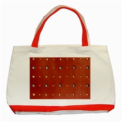 Studded Faux Leather Red Red Tote Bag by artattack4all