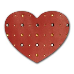 Studded Faux Leather Red Mouse Pad (heart) by artattack4all