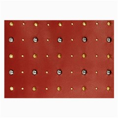 Studded Faux Leather Red Twin Sided Handkerchief by artattack4all