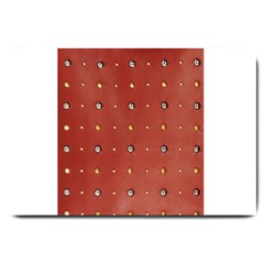 Studded Faux Leather Red Large Door Mat by artattack4all